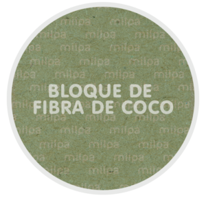 bloque de fibra de coco